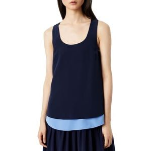 Tory Burch Katie 100% silk double layered top